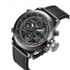 Наручные водонепроницаемые часы AMST one black Quartz