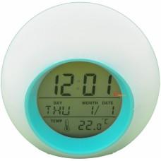 Часы-ночник будильник хамелеон с термометром TecStar и с подсветкой