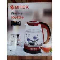 Электрочайник стеклянный Bitek с цветком ВТ 3111