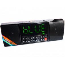 Портативная колонка часы MP3 плеер Спартак WS-1515 Black