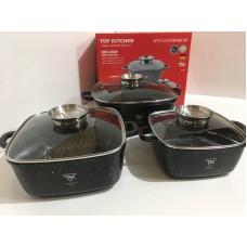 Высококачественный набор посуды с мраморным покрытием Top Kitchen TK00025 6 предметов