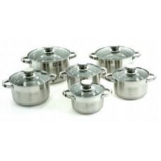 Набор посуды из высококачественной нержавеющей стали с зеркальная полировкой Edenberg EB-4011