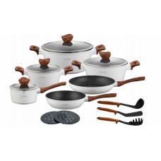 Набор посуды из нержавеющей стали с мраморным покрытием Edenberg EB 5622 15 предметов