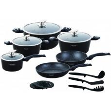 Набор посуды из нержавеющей стали с мраморным покрытием Edenberg EB 5611 15 предметов