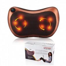 Подушка массажная Massage Pillow 8028 с инфракрасным подогревом для дома и автомобиля