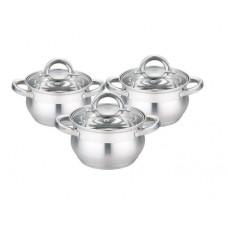 Набор посуды из высококачественной нержавеющей стали с зеркальная полировкой Edenberg EB 3716 6 предметов