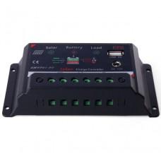 Контроллер заряда солнечных батарей 10А/Уровень заряда/USB