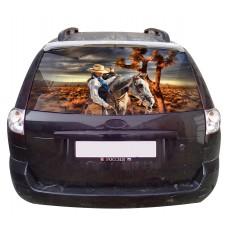 Наклейка на заднее стекло авто винил 3D Design House Кантри универсальная