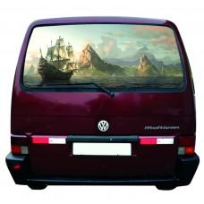 Наклейка на заднее стекло авто винил 3D Design House Корабль универсальная