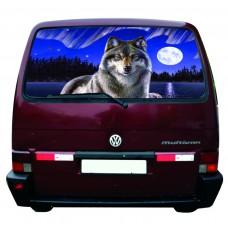 Наклейка на заднее стекло авто винил 3D Design House Волк 2 универсальная