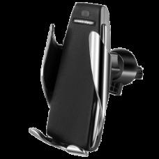 Держатель автомобильный c беспроводной зарядкой Smart Sensor S5 Black