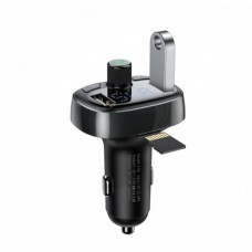 FM-трансмиттер модулятор зарядное устройство автомобильное Baseus T-Typed MP3 Car Charger S-09 2USB 3.4A Black