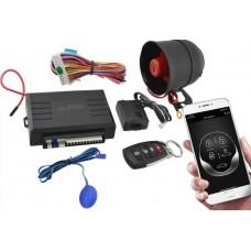 Сигнализация автомобильная охранная система универсальная Car Alarm KD 3000 APP с сиреной автосигнализация