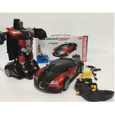 Машинка-трансформер Робот Автобот на радиоуправлении и аккумуляторе GLORLOUS MISSION 577 Черно-красная