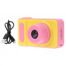 Фотоаппарат детский цифровой DVR Baby Camera V7 Розово-желтый