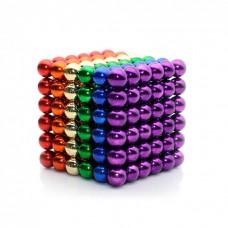 Игрушка-конструктор головоломка Неокуб 216 магнитных шариков 5 мм в коробке разноцветные Neocube