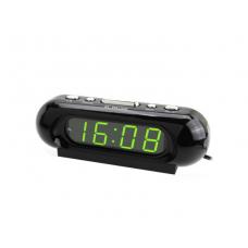 Часы-будильник настольные электронные VST-716 черные с зеленой индикацией