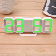 Часы электронные настольные настенные LED с будильником и термометром Caixing CX-2218 White (зеленая подсветка)