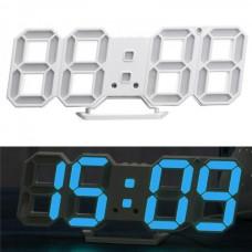 Часы электронные настольные настенные LED с будильником и термометром Caixing CX-2218 White (голубая подсветка)