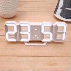 Часы электронные настольные настенные LED с будильником и термометром Caixing CX-2218 White (белая подсветка)