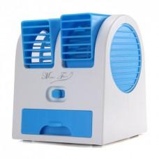 Вентилятор с увлажнителем и ароматизатором мини-кондиционер Mini Fan HB-168 Голубой