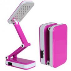 Лампа светодиодная аккумуляторная настольная трансформер складная Kamisafe KM 6668C Pink