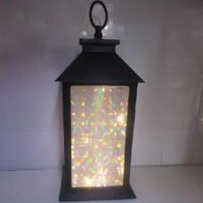 Фонарь-лампа новогодняя декоративная светильник с LED подсветкой HLV 13x13x28 см