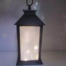 Фонарь-лампа новогодняя декоративная светильник с LED подсветкой HLV 11 13x13x28 см