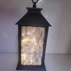 Фонарь-лампа новогодняя декоративная светильник с LED подсветкой HLV 12 13x13x28 см