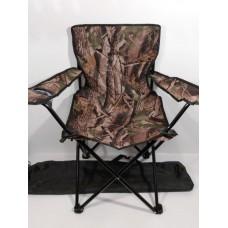 Стул со спинкой и подстаканником в чехле рыбацкий складной для кемпинга, пикника вес до 100 кг Sannen Камуфляжный