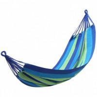 Гамак подвесной с прочной ткани 200х100 см в чехле Разноцветный полосатый Relax