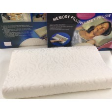 Подушка ортопедическая Memory Pillow Latex Pillow Белая с узором