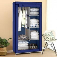 Шкаф тканевый складной раскладной на две секции HCX 90х45х170 см Blue