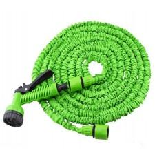 Шланг для полива MAGIC HOSE 15 м поливочный растягивающийся с распылителем Green