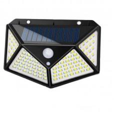 Светильник настенный уличный на солнечной батарее с 2 аккумуляторами 114 LED Sihangark