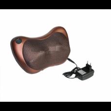 Подушка массажная Massage Pillow с инфракрасным подогревом для дома и автомобиля Brown