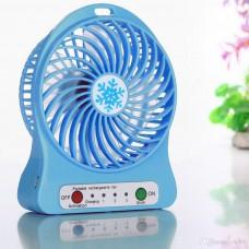 Вентилятор аккумуляторный с фонариком настольный мини-вентилятор портативный Portable Fan 01 Blue