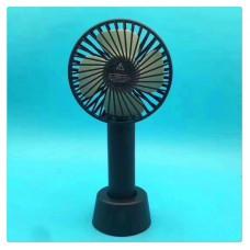 Вентилятор USB ручной аккумуляторный с подставкой мини-вентилятор портативный Portable Fan S02 Black