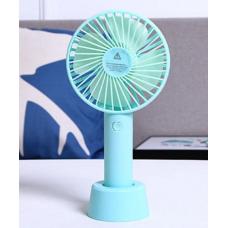Вентилятор USB ручной аккумуляторный с подставкой мини-вентилятор портативный Portable Fan S02 Blue