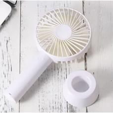 Вентилятор USB ручной аккумуляторный с подставкой мини-вентилятор портативный Portable Fan S02 White