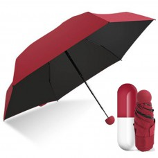 Зонт мини-зонт в капсуле Capsule Umbrella Burgundy (Бордовый)