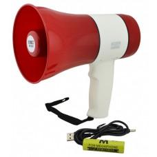Громкоговоритель аккумуляторный 15 W мегафон рупор UKC ER-22U Red