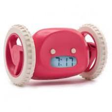 Убегающий будильник Alarm Clocky Run на колесиках Pink