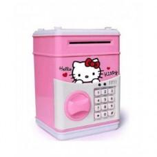 Копилка сейф с кодом кодовым замком для монет и бумажных денег детская Hello Kitty