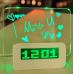 Светящиеся LED часы-будильник Digital с доской для записей White (DHW-01)