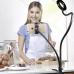 Штатив с кольцевым светом и держателем для телефона на прищепке с кольцевой подсветкой Professional Live