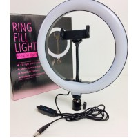Вспышка-подсветка селфи-кольцо 26 см кольцевой свет лампа для телефона Aixpi 3 режима яркости света BL666