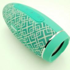 Колонка стерео портативная акустическая Bluetooth Hopestar H27 Бирюзовая