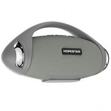 Колонка стерео портативная влагозащищенная Bluetooth Power Bank Hopestar H37 Gray