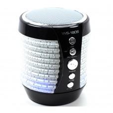 Портативная Bluetooth колонка WSTER WS-1805 с подсветкой Black (WS-1805B)